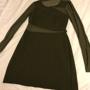 Olive green dress from urban outfitters